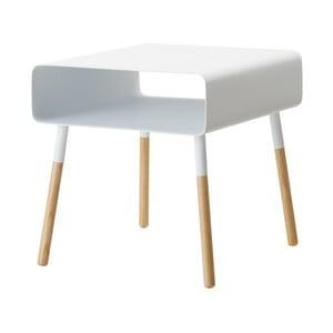 Bílý odkládací stolek YAMAZAKI Plain, výška35cm