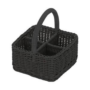 Košík Terrassenkorb Black, 19x19x22 cm