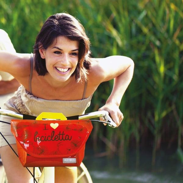 Taška na řídítka kola I ♥ Bicicleta, červená