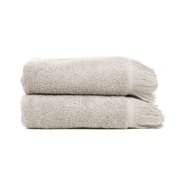 Sada 2 sivo-hnedých uterákov zo 100% bavlny Bonami, 50 × 90 cm