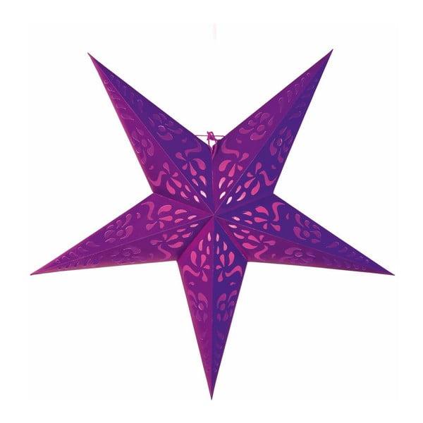 Závěsná dekorativní hvězda Five Purple, 60 cm
