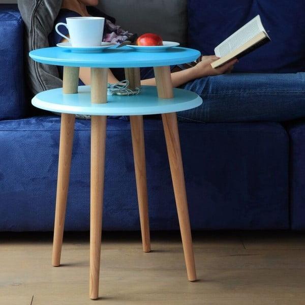 Odkládací stolek UFO 61x45 cm, bílý