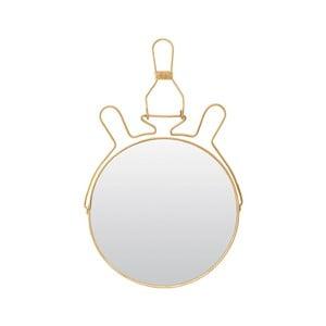 Oglindă cosmetică cu suport Meraki, ⌀ 20 cm, auriu