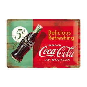 Plechová cedule 5c Coca Cola