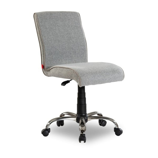 Sivá stolička na kolieskach Soft Chair Grey