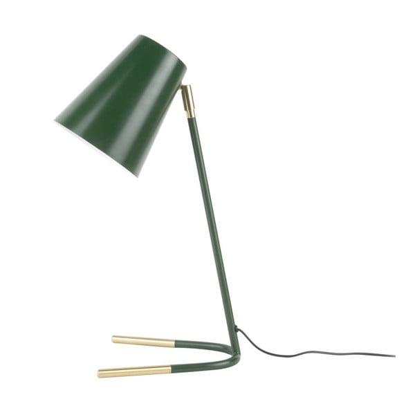 Zelená stolní lampa s detaily ve zlaté barvě Leitmotiv Noble