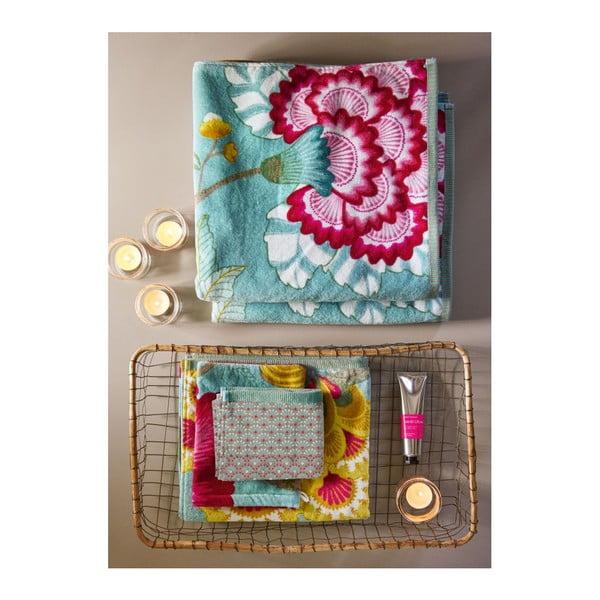 Modrý ručník Pip Studio Floral Fantasy, 55x100cm