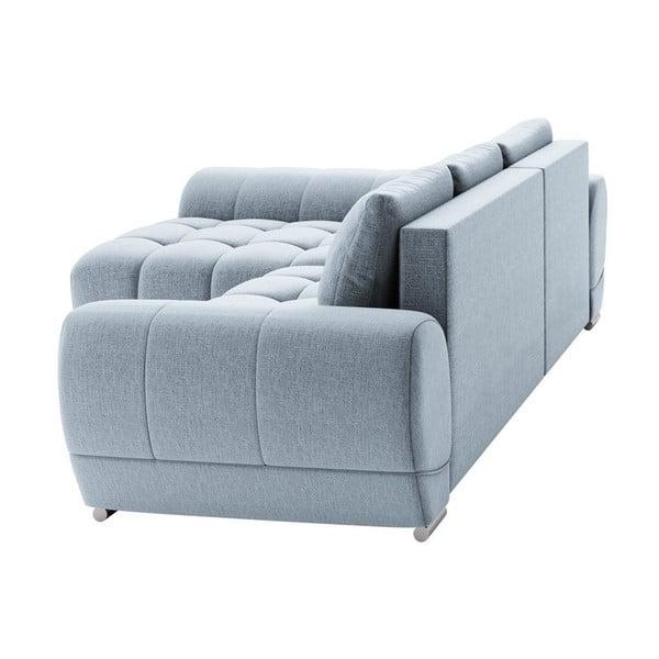 Canapea extensibilă de colț Windsor & Co Sofas Cloudlet, pe partea stângă, albastru deschis