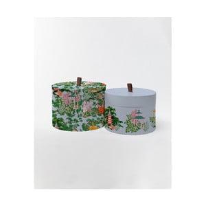 Kulaté úložné krabice Surdic Round Boxes Chineserie s čínským motivem , 30 x 30 cm