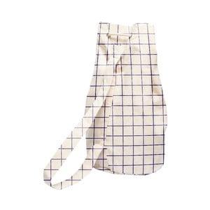 Jednoduchý látkový vak Linen Couture Simple Squares, šířka 40 cm