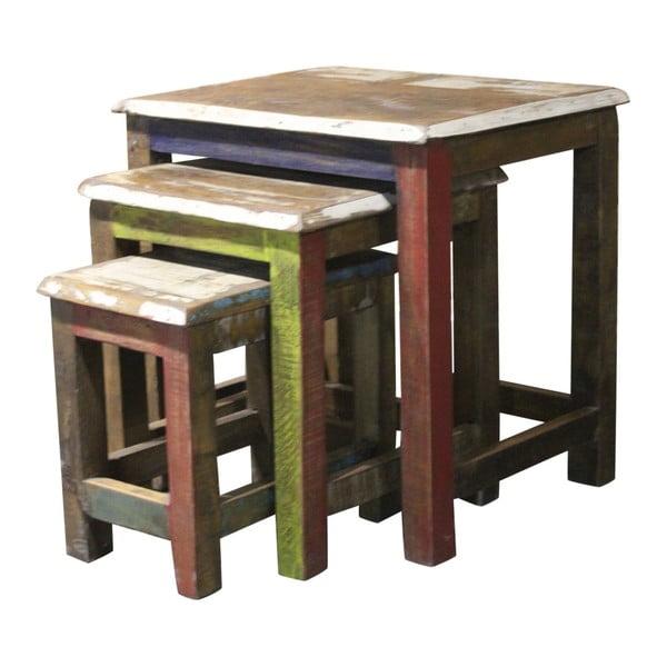 Sada 3 příručních stolků z exotických dřev Støraa Avila