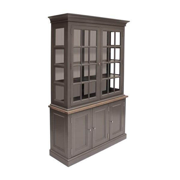 Šedá pětidveřová vitrína Canett Royal