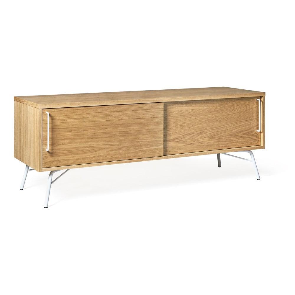 TV stolek s bílými nohami Woodman Ashburn