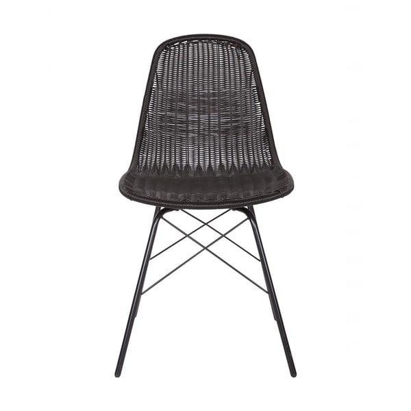 Set 2 scaune adecvate interior/exterior BePureHome Spun, negru