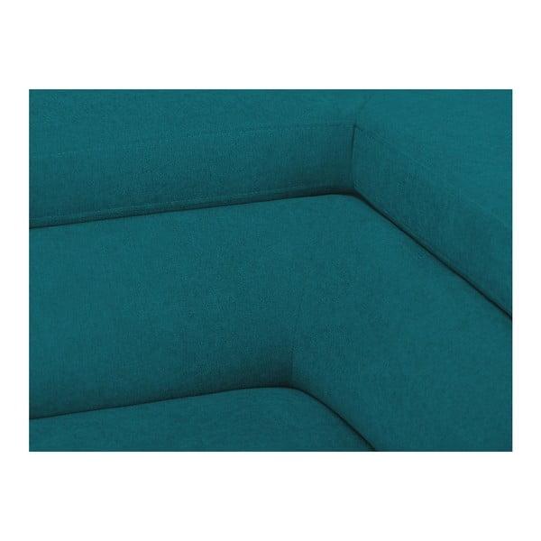 Tyrkysová rozkládací rohová pohovka Windsor & Co Sofas Gamma, levý roh