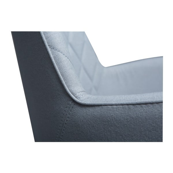 Modrá jídelní židle s područkami DAN–FORM Rombo