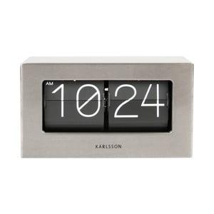 Ceas de birou și masă Present Time Boxed Flip, gri