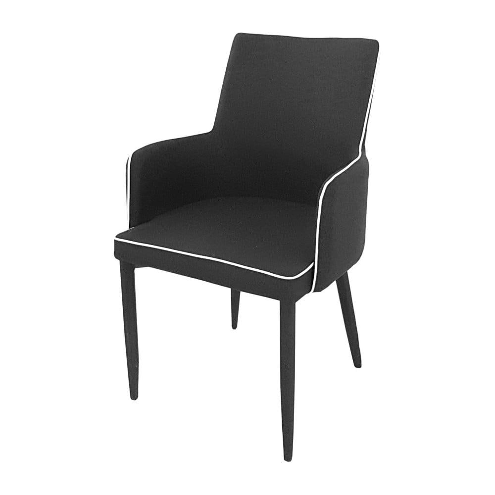 Černá jídelní židle s područkami Castagnetti Ine