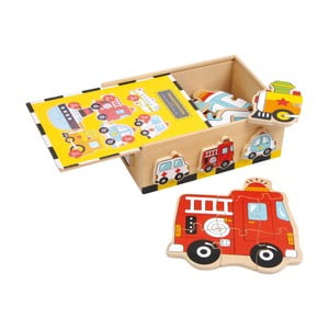Dřevěné puzzle Legler Vehicles