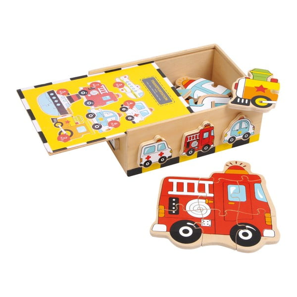 Puzzle din lemn Legler Vehicles
