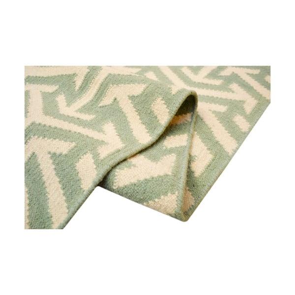 Vlněný koberec Kilim no. 307, 120x180 cm, zelený