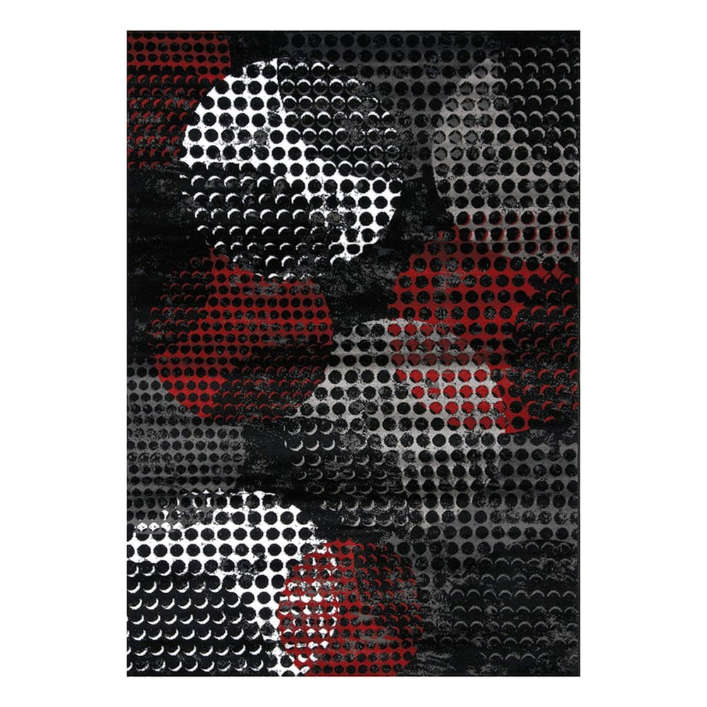 Černo-šedý koberec Webtappeti Manhattan Broadway,160x230cm