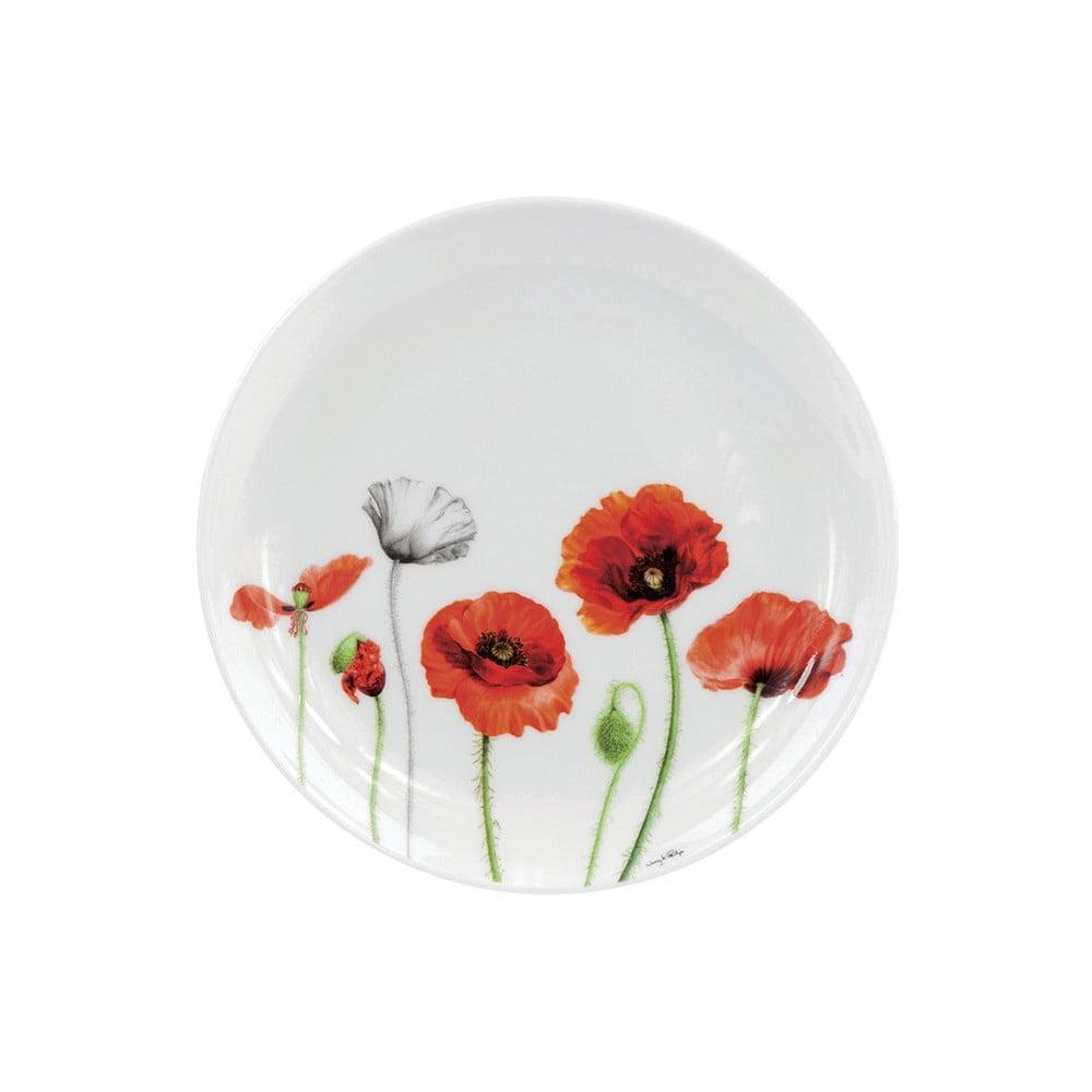 Dezertní talíř z kostního porcelánu Ashdene Poppies, ⌀15cm