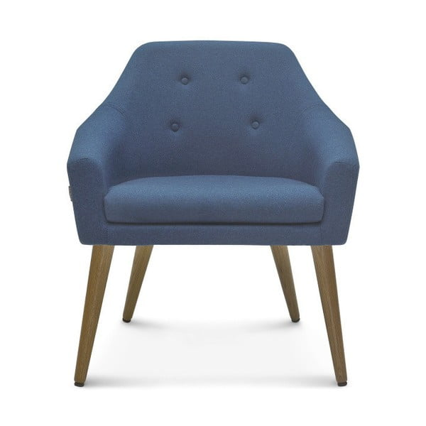 Modrá jedálenská stolička Fameg Bendt