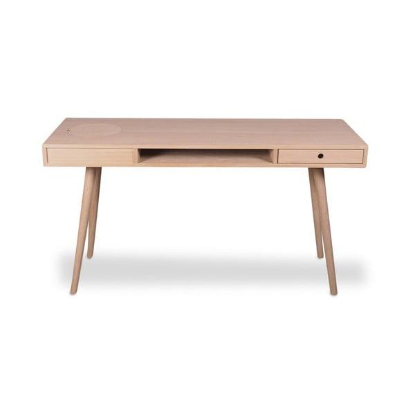 Svetlohnedý písací stôl WOOD AND VISION Classic, 140 × 49 cm