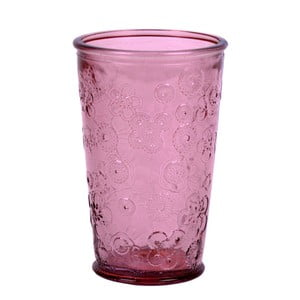 Pahar Ego Dekor Flora, 300 ml, roz