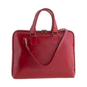 Červená kožená kabelka Ore Diece Cagliari