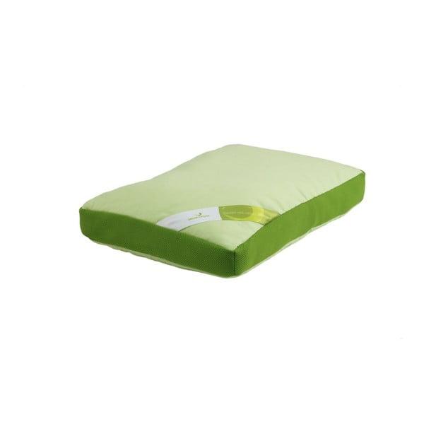 Zelený polštář s paměťovou pěnou Aero Green Future, 50x60cm
