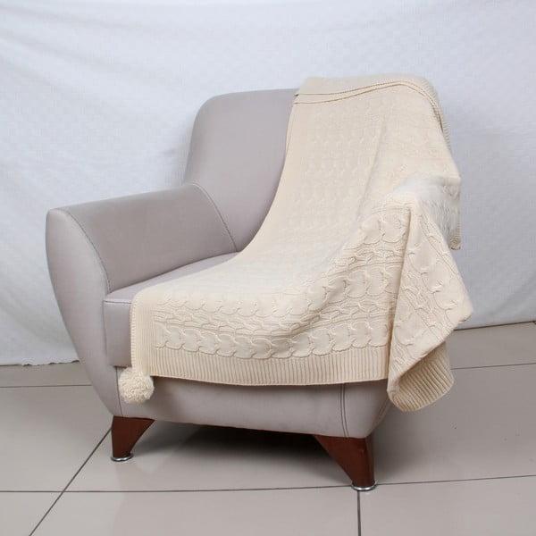 Přehoz v krémové barvě Homemania Tata, 130 x 170 cm