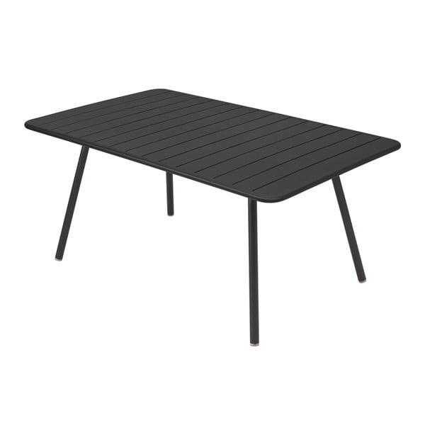 Černý kovový jídelní stůl Fermob Luxembourg