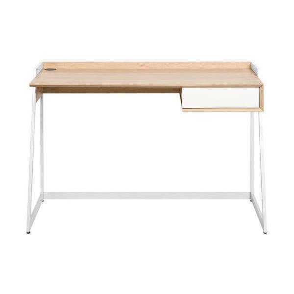 Pracovní stůl v dekoru světlého dřeva Monobeli Sia
