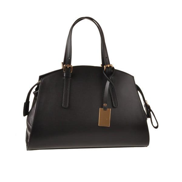 Kožená kabelka Aston, černá