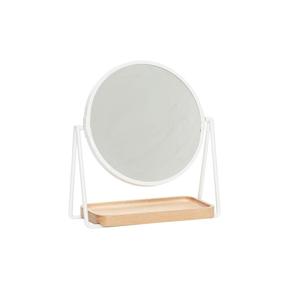 Stolní zrcadlo se základnou z bukového dřeva Hübsch Vitus