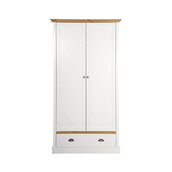 Krémovobiela šatníková skriňa Steens Sandringham, 192 × 104 cm