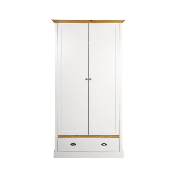 Dulap Steens Sandringham, 192 x 104 cm, alb - crem