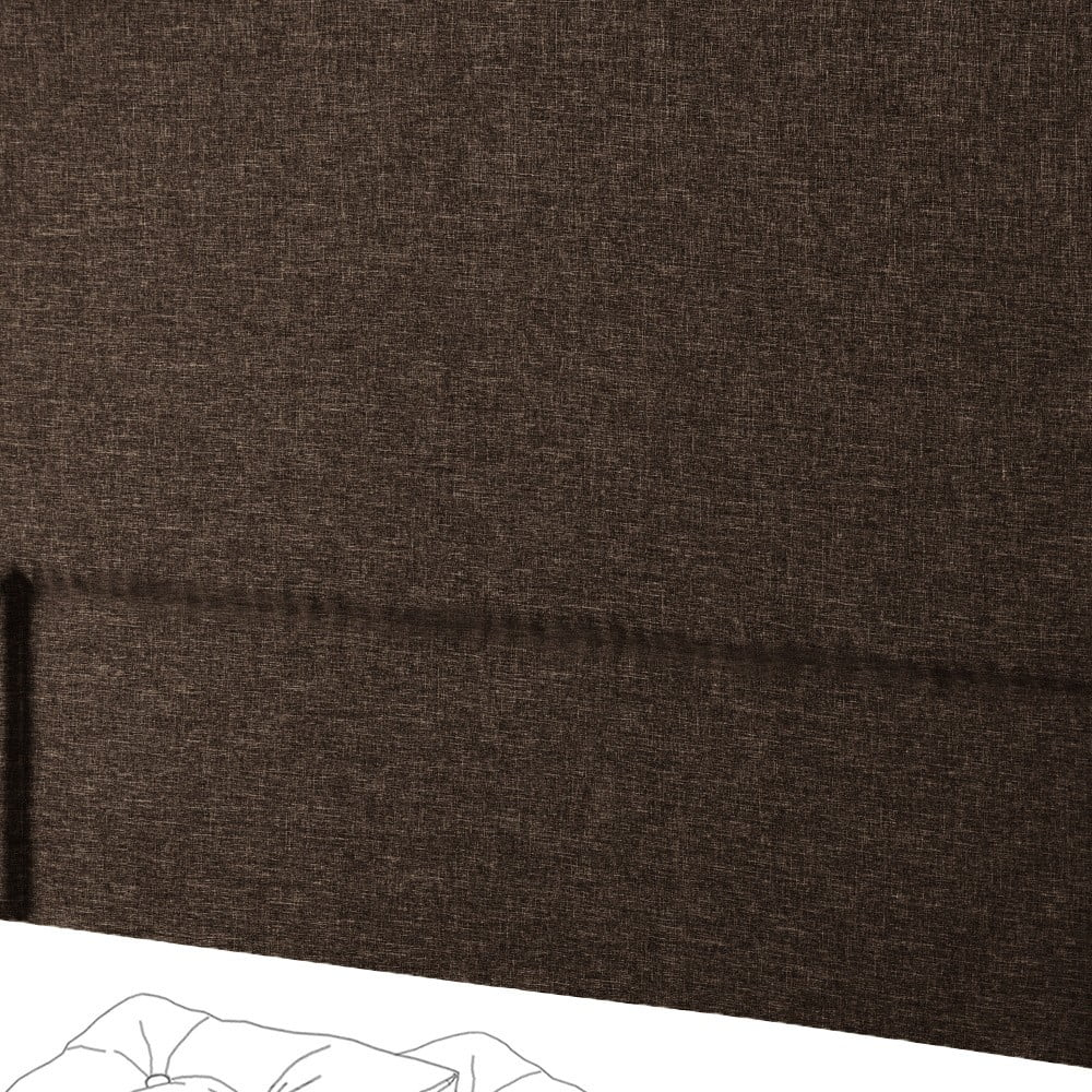 Hnědé čelo postele Novative Valse, 160 x 118 cm
