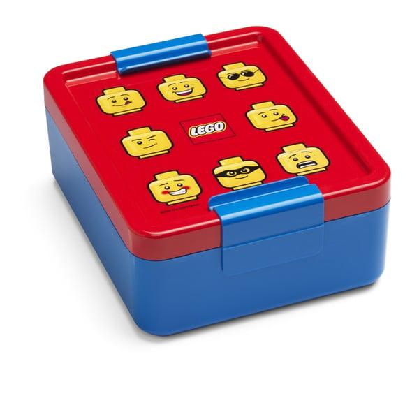 Modrý box na desiatu s červeným vekom LEGO® Iconic