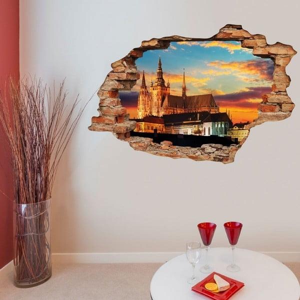 Autocolant perete 3D Ambiance Praga Pražský Hrad, 90 x 60 cm