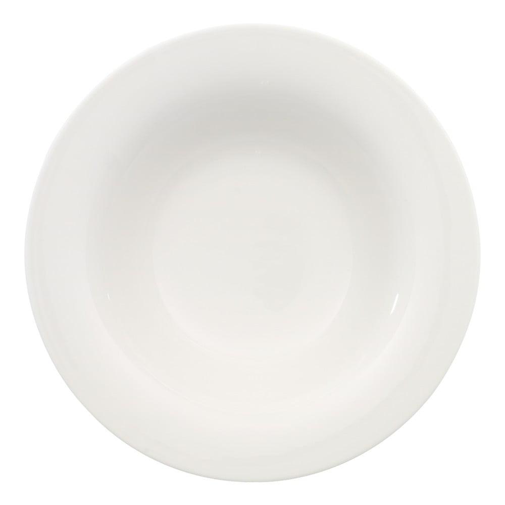 Bílý porcelánový hluboký talíř Villeroy & Boch New Cottage, ⌀ 23 cm