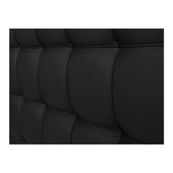 Černé čelo postele Windsor & Co Sofas Deimos, 180 x 120 cm