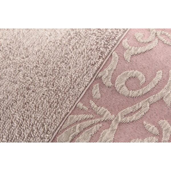 Sada 2 hnědých bavlněných ručníků Burumcuk, 50 x 90 cm