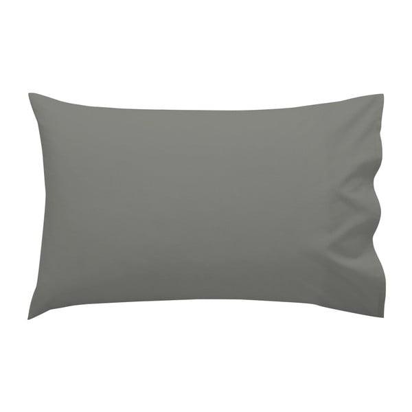 Tmavě šedý bavlněný povlak na polštář , 50 x 30 cm