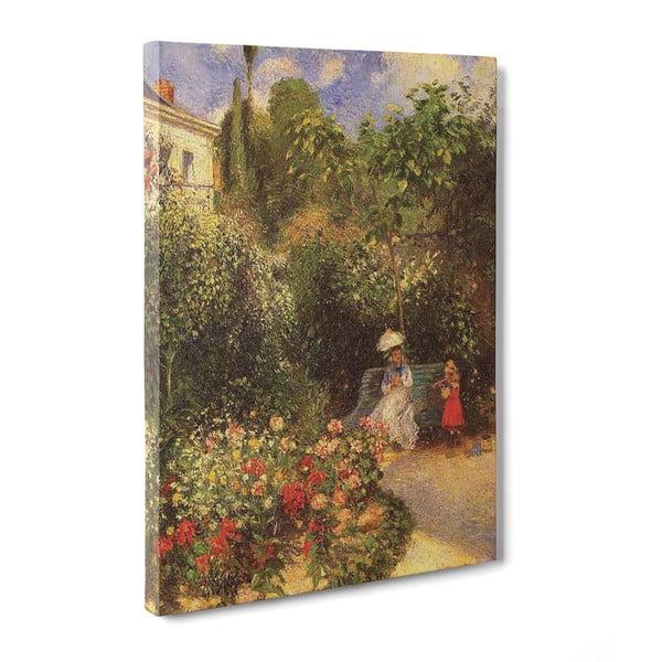 Obraz El Jardín de Pontoise - Camille Pissaro, 50x70 cm