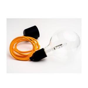 Barevný kabel Loft se žárovkou, grapefruit