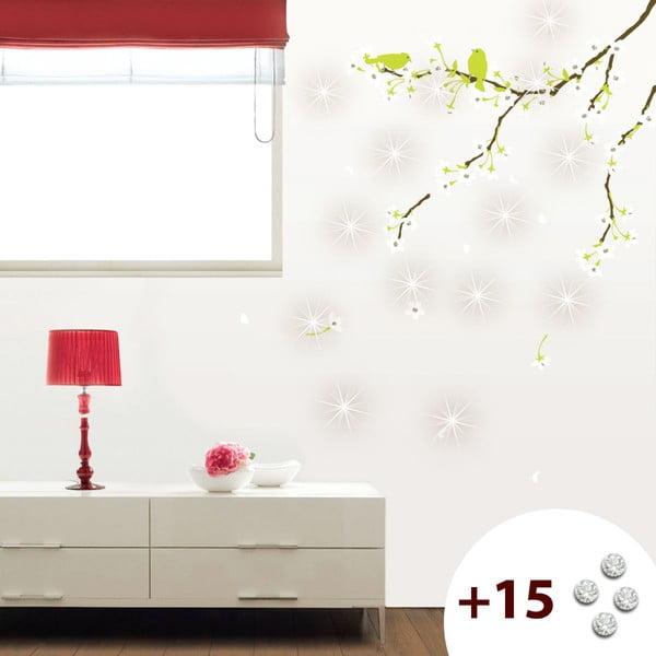 Set samolepky a 15 Swarovski krystalů Ambiance Pear Tree