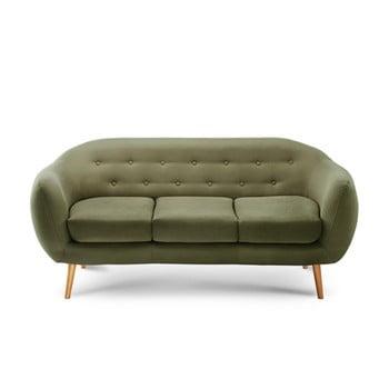 Canapea pentru 3 persoane Scandi by Stella Cadente Maison Constellation verde